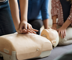 First Aid Training in combined First Aid Levels 1, 2 and 3.
